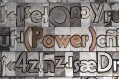 Makt med rörlig typprinting Royaltyfri Foto