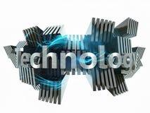 Makt och teknologibegrepp Arkivfoto