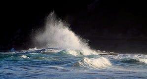 Makten av vågor Arkivfoton