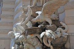 Makten på landspringbrunnen, Wien Fotografering för Bildbyråer