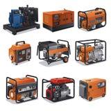 Maktgeneratorer Fotografering för Bildbyråer