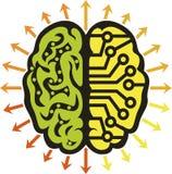 Makthjärnlogo stock illustrationer
