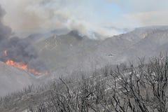 Makthusbranden ~ 2013 ~ brand & rök Arkivfoton