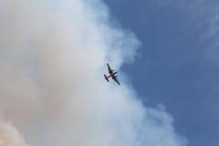 Makthusbranden ~ 2013 ~ nivån & rök. Royaltyfri Foto