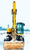 Maktskyffel i snö arkivbild