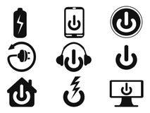 Maktsymbolsuppsättning arkivbild