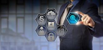 Makttjänsteman Managing Regulatory Compliance Arkivbilder