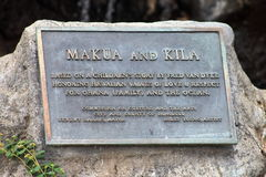 Makua and Kila plaque Royalty Free Stock Images