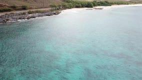 Makuastrand op het Eiland Oahu in de hommeloever van Hawaï stock videobeelden