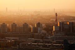 Makuhari Nieuwe Stad in Japan Stock Foto