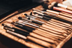 Makup brush set Stock Photography