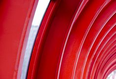 Red abstract metal background stock photo