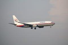Malásia, 2016 - avião de passageiros comercial na taxação para aterrar em Kuala Lumpur International Airport Foto de Stock Royalty Free