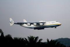 Malásia, 2016 - avião de passageiros comercial na taxação para aterrar em Kuala Lumpur International Airport Fotografia de Stock Royalty Free