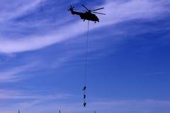Malásia, 2016 - helicóptero malaio real das forças aéreas durante o airshow militar em Kuala Lumpur International Airport Fotos de Stock