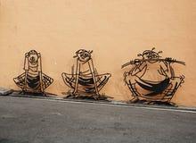 MALÁSIA, PENANG, GEORGETOWN - CERCA DO JULHO DE 2014: tridimensional Fotos de Stock Royalty Free
