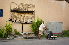MALÁSIA, PENANG, GEORGETOWN - CERCA DO JULHO DE 2014: Uso artístico do sinal Fotografia de Stock Royalty Free