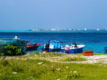 Malé, Maldives. View of Malé from the port of the neighbor island Villingili, Maldives stock photography