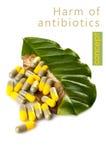 Mal de concept d'antibiotiques photos stock