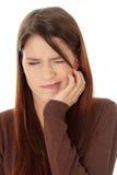 Mal de dents photographie stock libre de droits