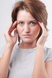 Mal de tête Photographie stock libre de droits