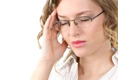 Mal de tête Photo libre de droits