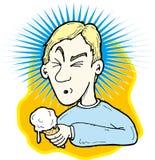 Mal de tête de crême glacée Photos libres de droits