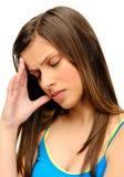Mal de tête de tension images stock