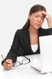 Mal de tête et tension Image libre de droits