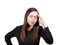 Mal de tête ou attention photographie stock libre de droits