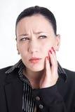 Mal di denti sul lavoro Fotografie Stock Libere da Diritti