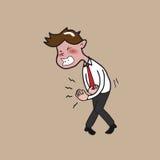 Mal di stomaco dell'uomo di salute Immagine Stock