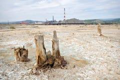 mal ekologisk karabash för den koppardöda öknen nära Arkivbilder