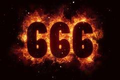 Mal gothique de style de signe satanique des 666 feux ésotérique illustration libre de droits