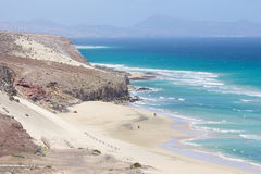 Mal Nombre beach on the south east coast of Fuerteventura Stock Images