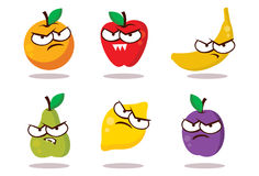 Mal regardant des fruits Image stock