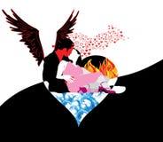 Mal romance e anjo Fotografia de Stock Royalty Free