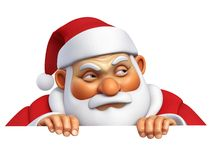 mal Santa dos desenhos animados 3d Imagens de Stock