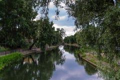 Mala ön i Bydgoszcz, Polen Arkivfoto