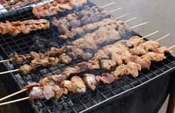 Mala, σάλτσα σχαρών φρυγανιάς χοιρινού κρέατος σχαρών με Sichuan το πιπέρι, ταϊλανδικά τρόφιμα οδών - εικόνα στοκ φωτογραφία με δικαίωμα ελεύθερης χρήσης