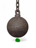 Mala bola arruinadora grande Foto de archivo libre de regalías