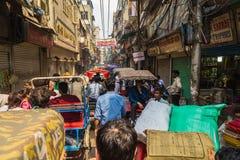Mala congestión en Delhi, la India Fotografía de archivo libre de regalías