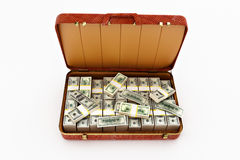 Mala de viagem com dinheiro Imagem de Stock
