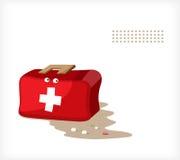 Mala de viagem A da saúde emocional Imagem de Stock