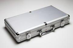 Mala de viagem de alumínio isolada Foto de Stock