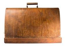 Mala de viagem de madeira Foto de Stock Royalty Free