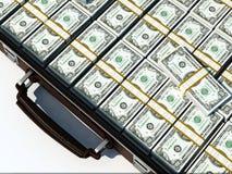 Mala de viagem dos dólares Imagem de Stock Royalty Free