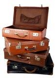 Mala de viagem marrom velha Fotos de Stock Royalty Free