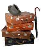 Mala de viagem marrom velha Imagem de Stock Royalty Free