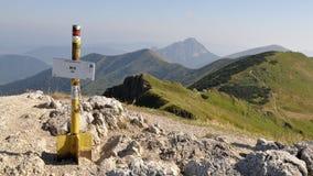 Mala Fatra山,顶面Chleb,斯洛伐克 图库摄影